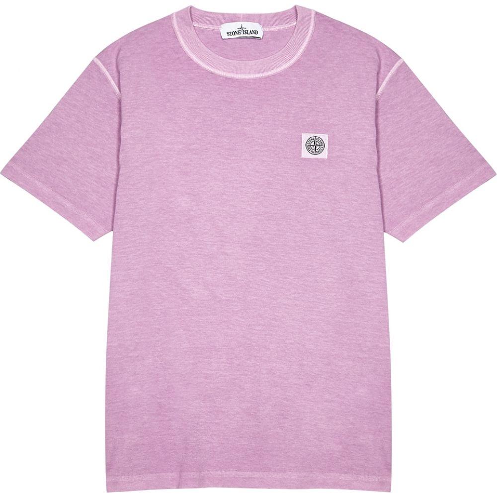 ストーンアイランド Stone Island メンズ Tシャツ トップス【Pink Cotton T-Shirt】Pink