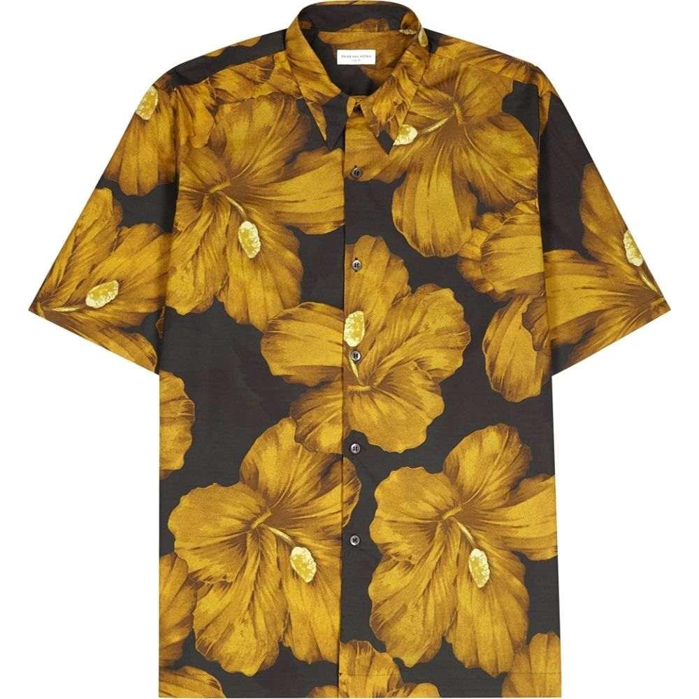 ドリス ヴァン ノッテン Dries Van Noten メンズ 半袖シャツ トップス【Clasen Floral-Print Cotton Shirt】Yellow
