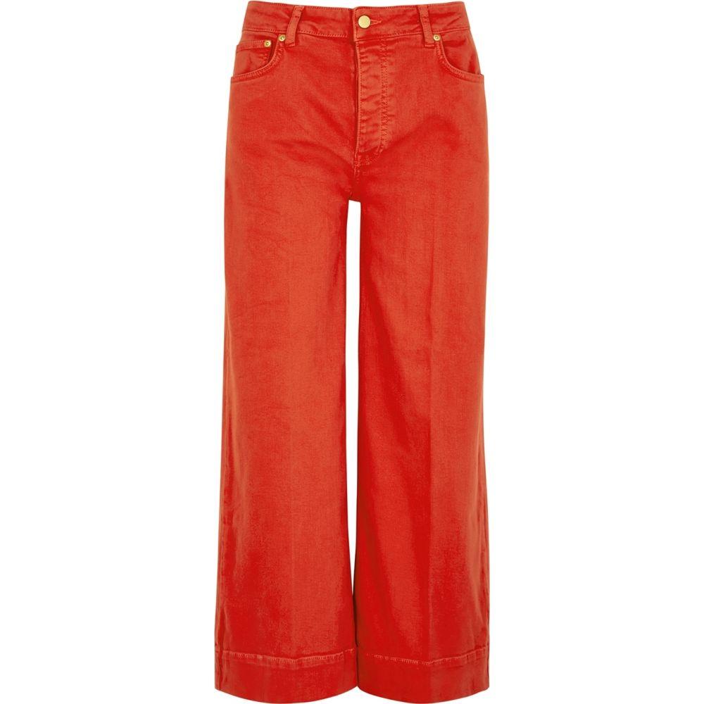ヴィクトリア ベッカム Victoria Victoria Beckham レディース ジーンズ・デニム ボトムス・パンツ【Red Cropped Wide-Leg Jeans】Red
