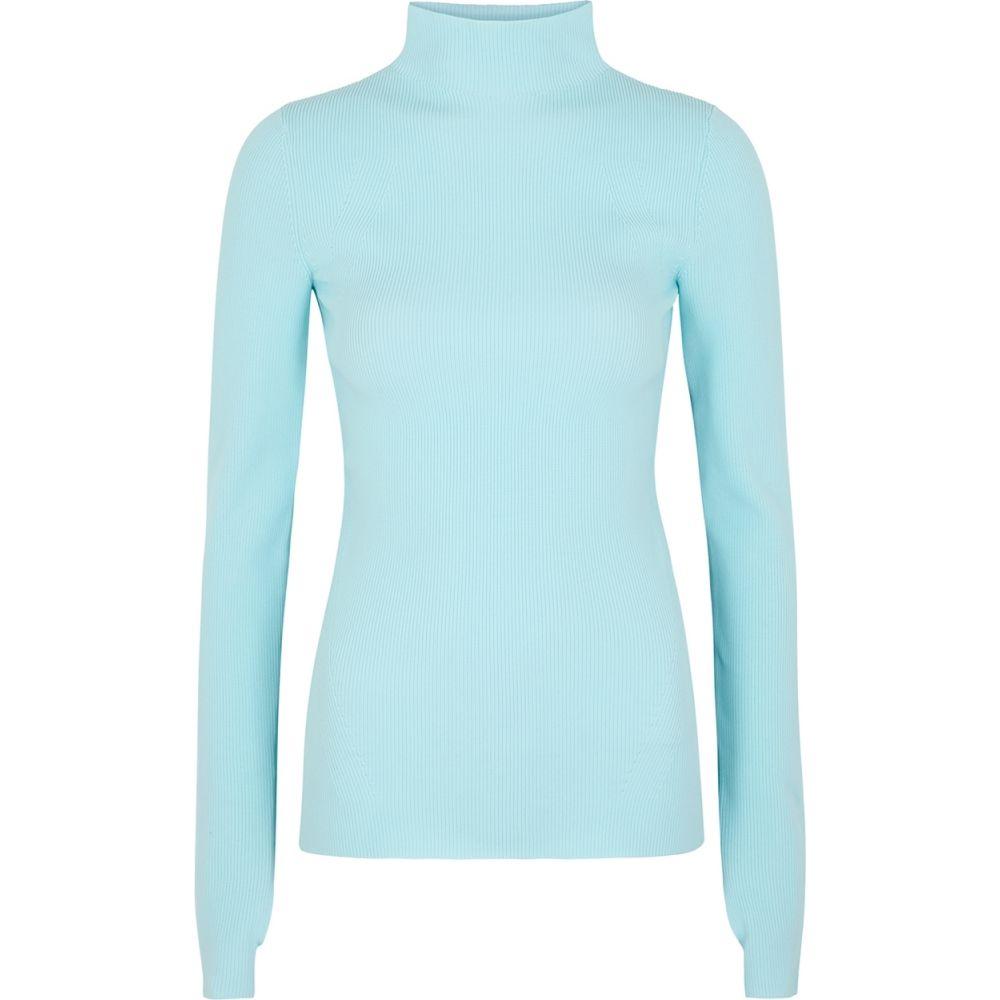 ヘルムート ラング Helmut Lang レディース ニット・セーター トップス【Light Blue High-Neck Stretch-Knit Jumper】Blue