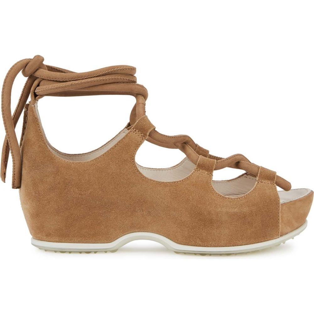 ロゼッタゲティー Rosetta Getty レディース サンダル・ミュール シューズ・靴【X Ecco Brown Suede Flatform Sandals】Natural