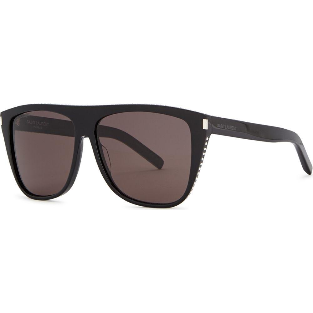イヴ サンローラン Saint Laurent レディース メガネ・サングラス 【Sl1 Black D-Frame Sunglasses】Black