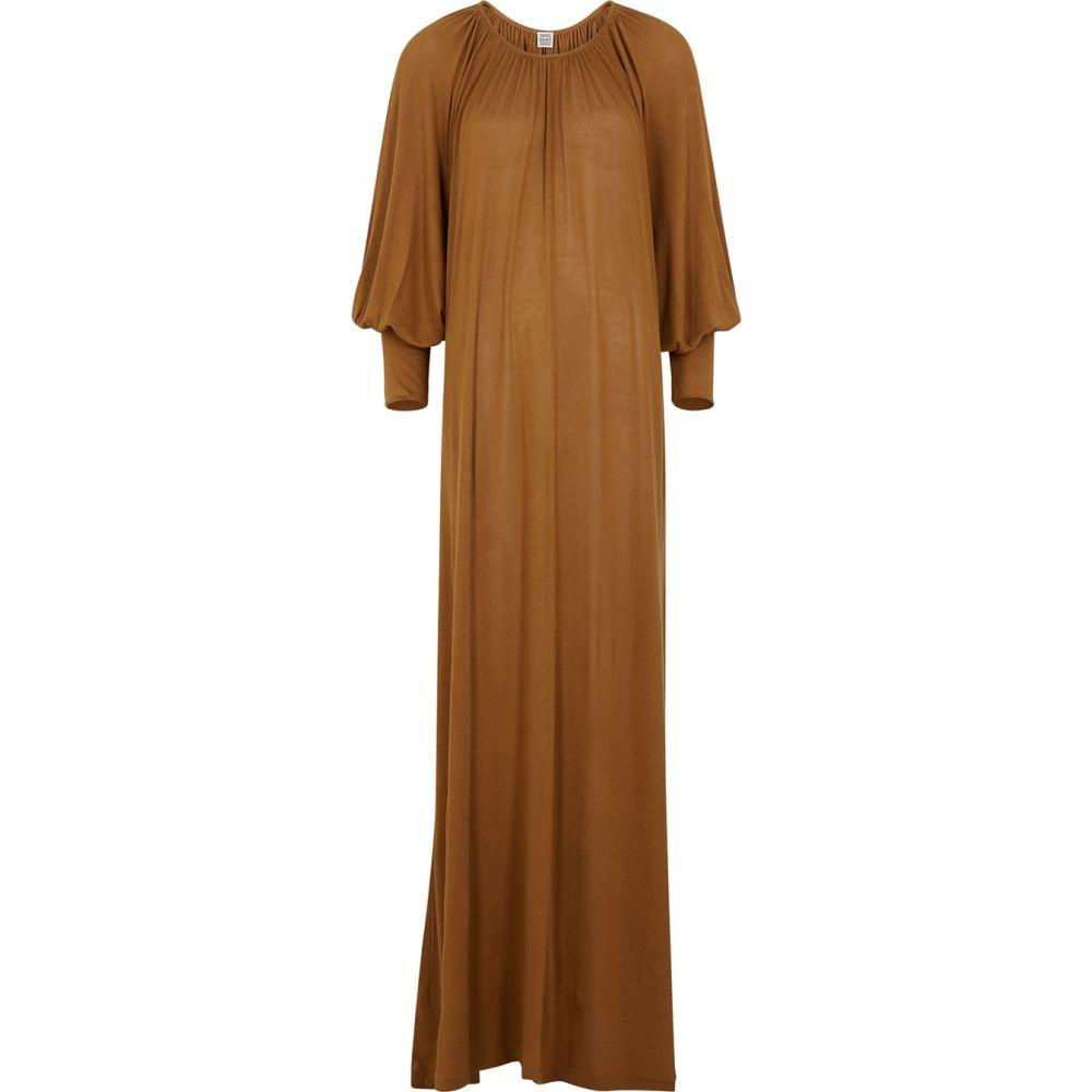 トーテム Toteme レディース ワンピース マキシ丈 ワンピース・ドレス【Anville Brown Fine-Knit Maxi Dress】Brown