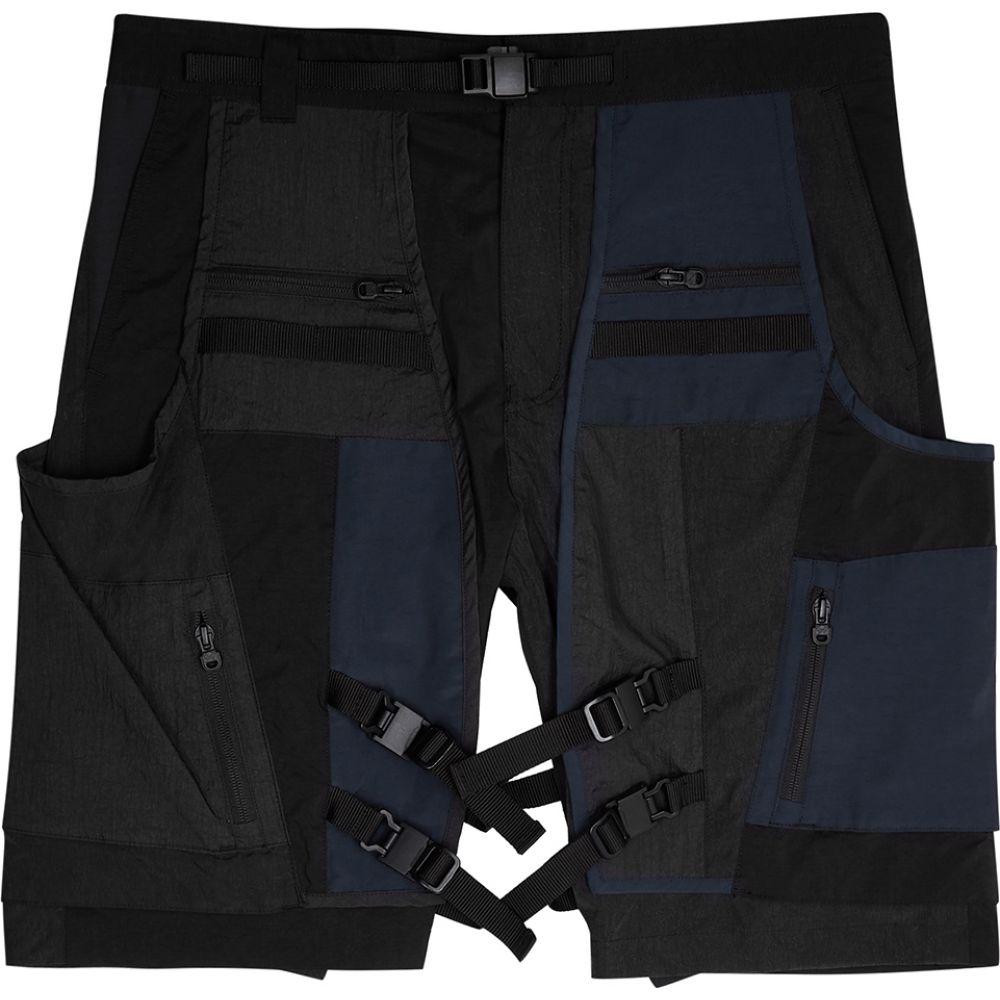 ホワイトマウンテニアリング White Mountaineering メンズ ショートパンツ ボトムス・パンツ【Black And Navy Panelled Shell Shorts】Black