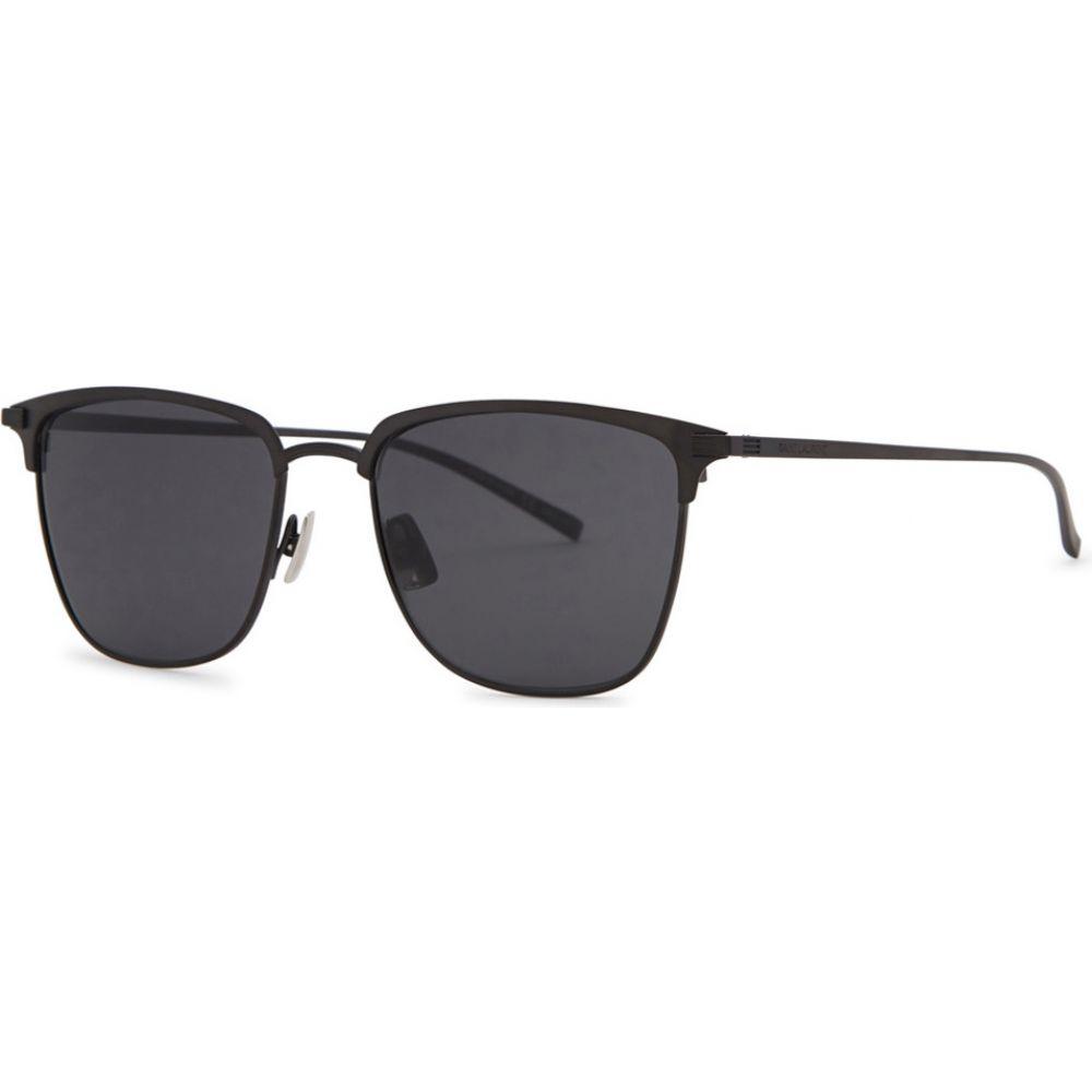 イヴ サンローラン Saint Laurent レディース メガネ・サングラス 【Sl150T Black Clubmaster-Style Sunglasses】Black