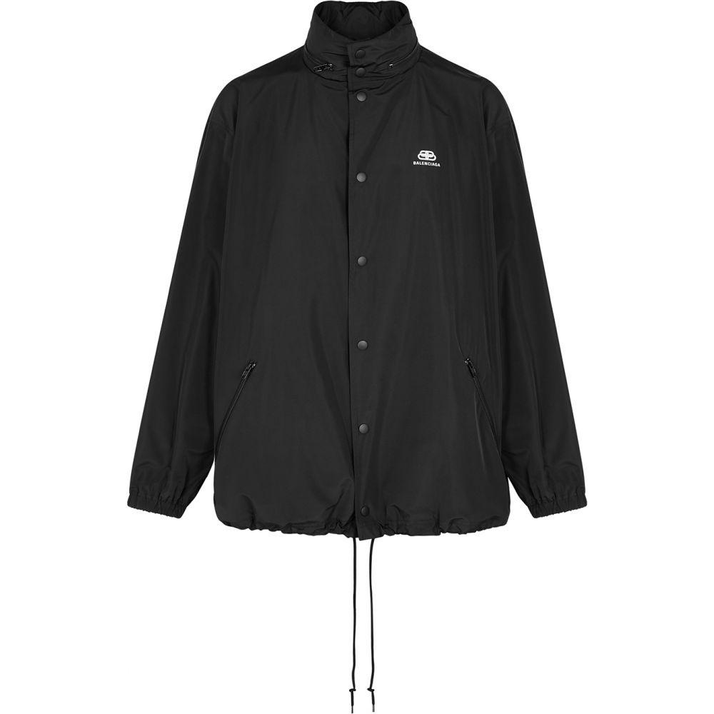 バレンシアガ Balenciaga メンズ ジャケット シェルジャケット アウター【Black Logo Shell Jacket】Black