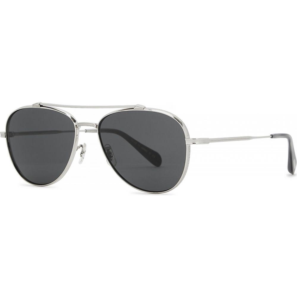オリバーピープルズ Oliver Peoples レディース メガネ・サングラス 【Rikson Silver-Tone Aviator-Style Sunglasses】Silver