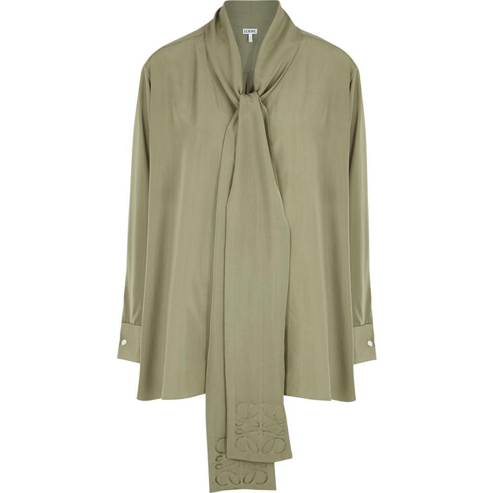 【SEAL限定商品】 ロエベ Loewe レディース ブラウス・シャツ レディース トップス【green トップス【green silk blouse Loewe】Green, スマホグッズ専門店smartselection:7ac11c8b --- promilahcn.com