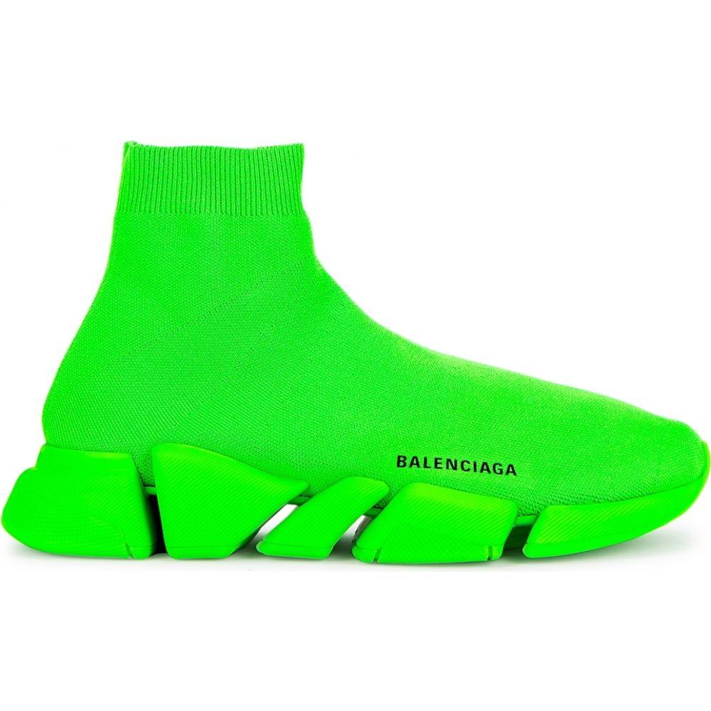 最愛 バレンシアガ Balenciaga メンズ スニーカー シューズ・靴【speed バレンシアガ 2.0 neon スニーカー stretch-knit green stretch-knit sneakers】Green, SEMI-STYLE:a920e6a7 --- cranescompare.com