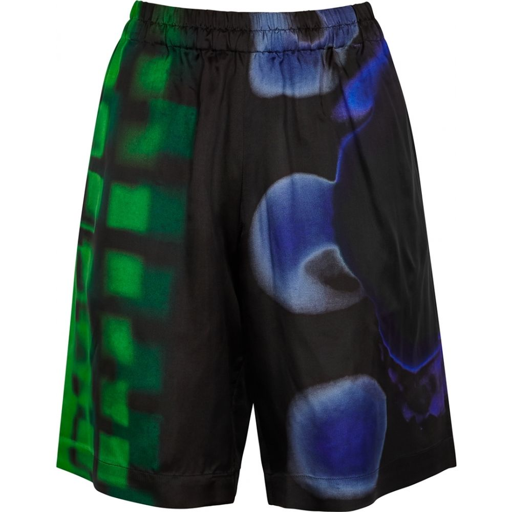 (税込) ドリス ヴァン ノッテン Dries Van Noten レディース ショートパンツ ボトムス・パンツ【pomar printed satin-twill shorts】Black, イヤーズ eea1b181