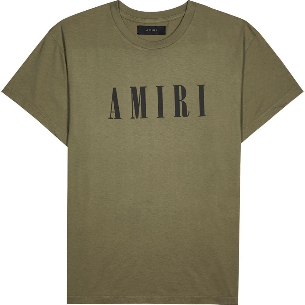 代引き人気 アミリ アミリ Amiri メンズ Tシャツ トップス【army トップス【army cotton green logo-print cotton t-shirt】Green, 自転車プローウォカティオ:15e682ef --- promilahcn.com