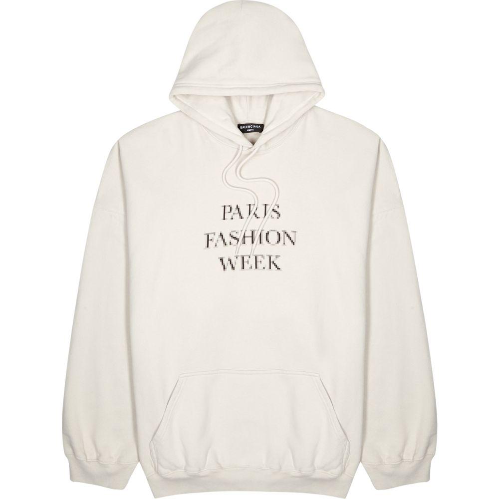 【激安アウトレット!】 バレンシアガ Balenciaga cotton メンズ メンズ パーカー スウェット パーカー トップス【light grey printed hooded cotton sweatshirt】Grey, 熊取町:6629d014 --- scrabblewordsfinder.net
