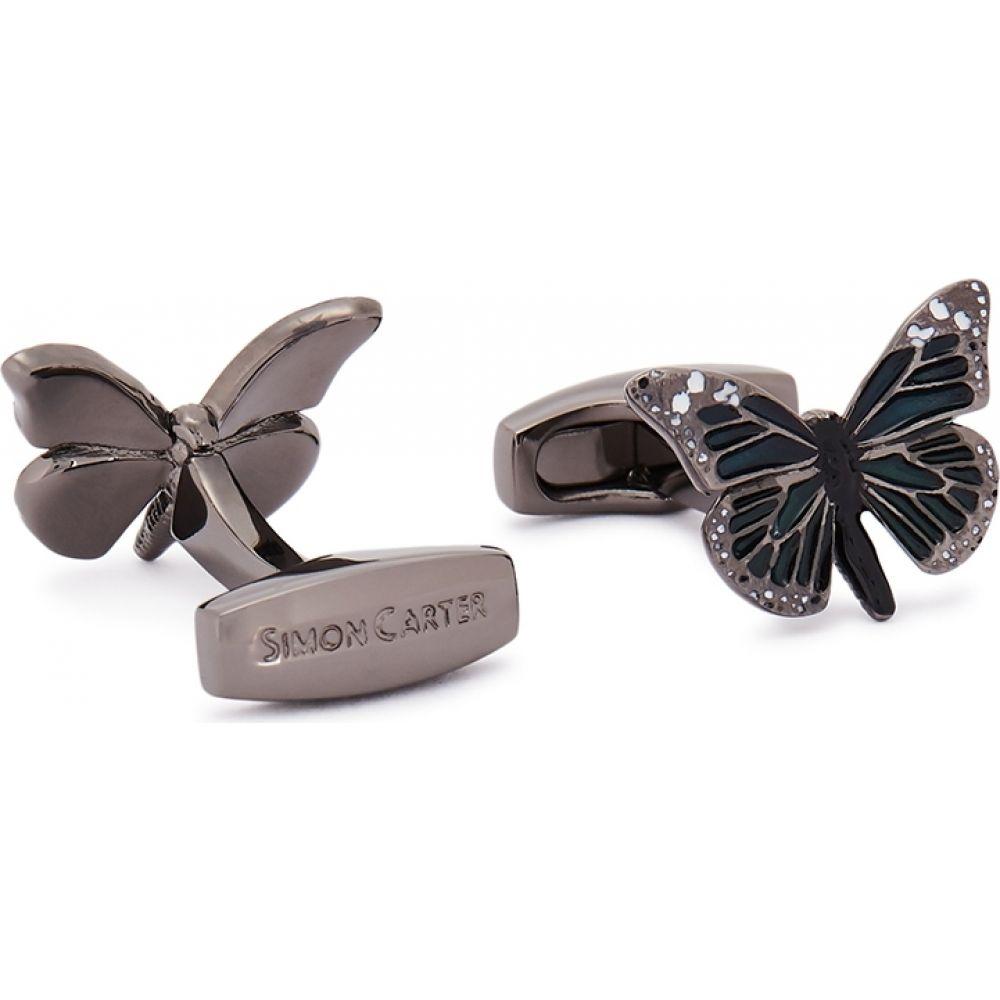 サイモン カーター Simon Carter メンズ カフス・カフリンクス 【Gunmetal Butterfly Cufflinks】Blue