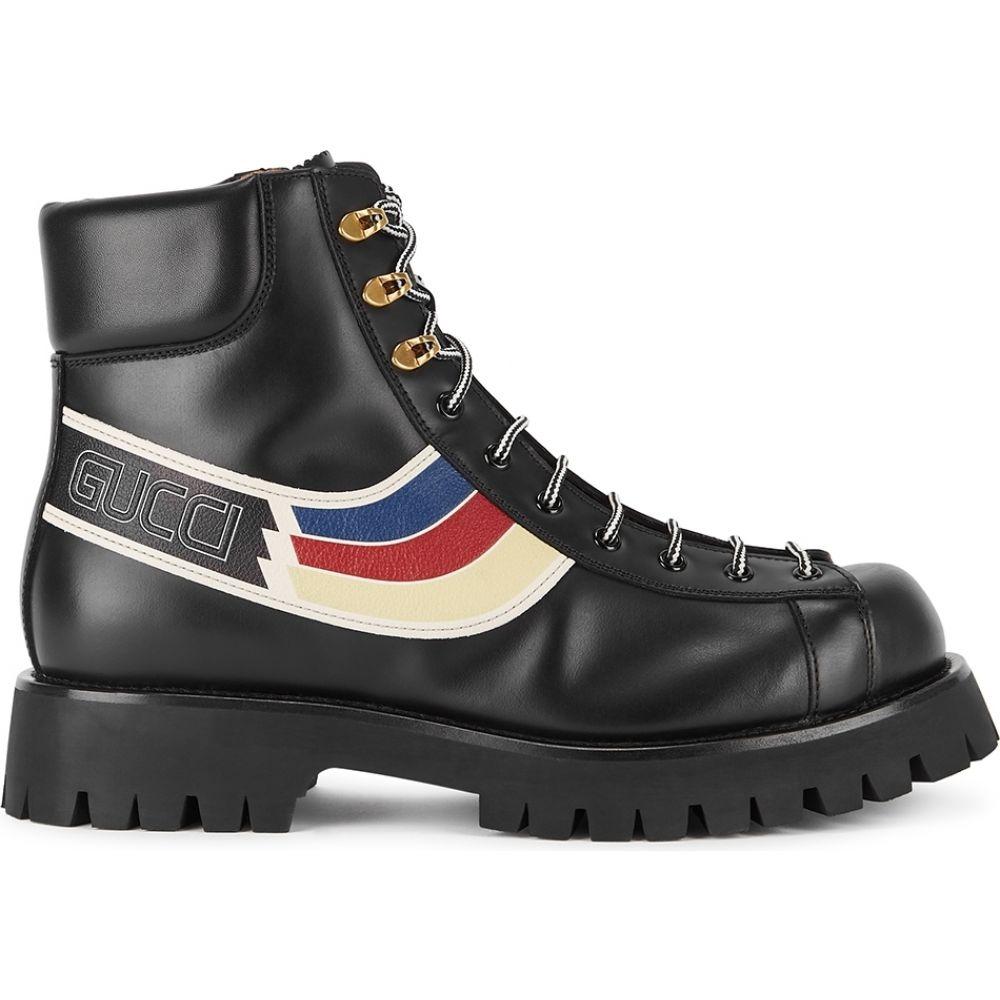 グッチ Gucci メンズ ブーツ ショートブーツ シューズ・靴【Oliver Black Leather Ankle Boots】Black