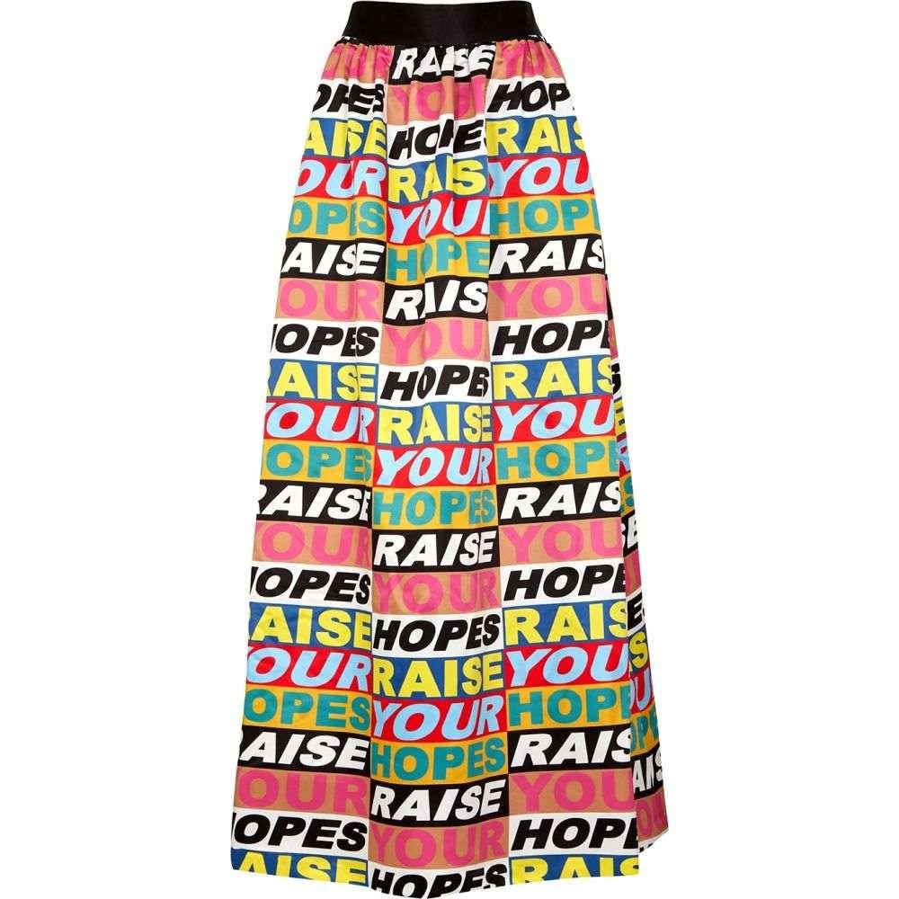 アリス アンド オリビア Alice + Olivia レディース ロング・マキシ丈スカート スカート【X Lakwena Tina Printed Satin Maxi Skirt】Multi