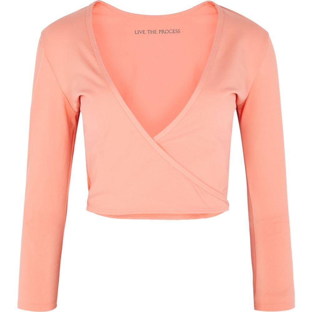 ライブ ザ プロセス Live The Process レディース トップス 【Zen Coral Stretch-Jersey Wrap Top】Pink