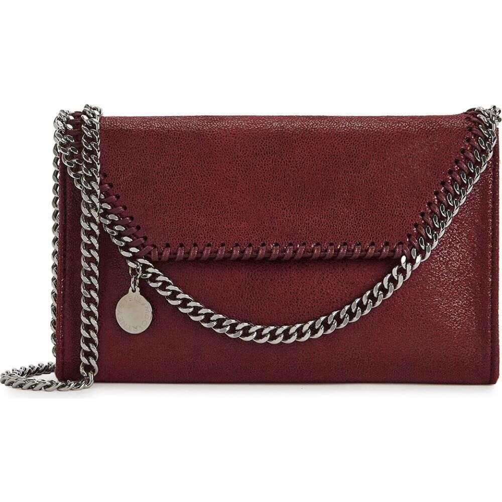 ステラ マッカートニー Stella McCartney レディース ショルダーバッグ バッグ【Falabella tiny burgundy cross-body bag】Red