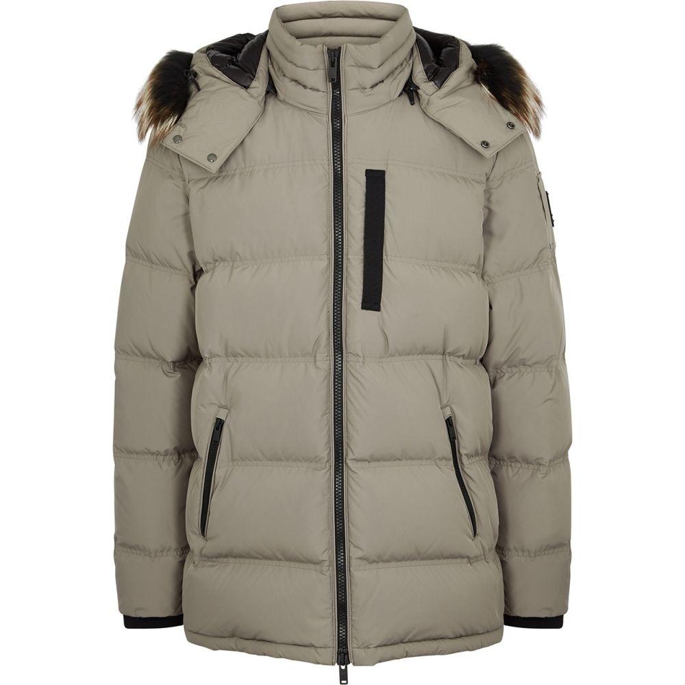ムースナックル Moose Knuckles メンズ ジャケット シェルジャケット アウター【Southdale Fur-Trimmed Quilted Shell Jacket】Natural