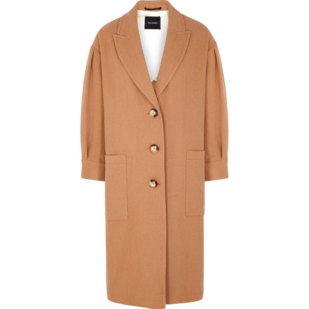 パロネス Palones レディース コート アウター【Brown Cotton-Blend Coat】Brown