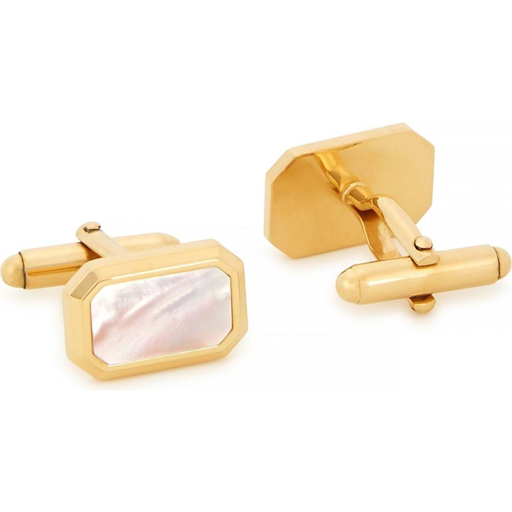 ランバン Lanvin メンズ カフス・カフリンクス 【Mother Of Pearl Gold-Tone Cufflinks】Gold