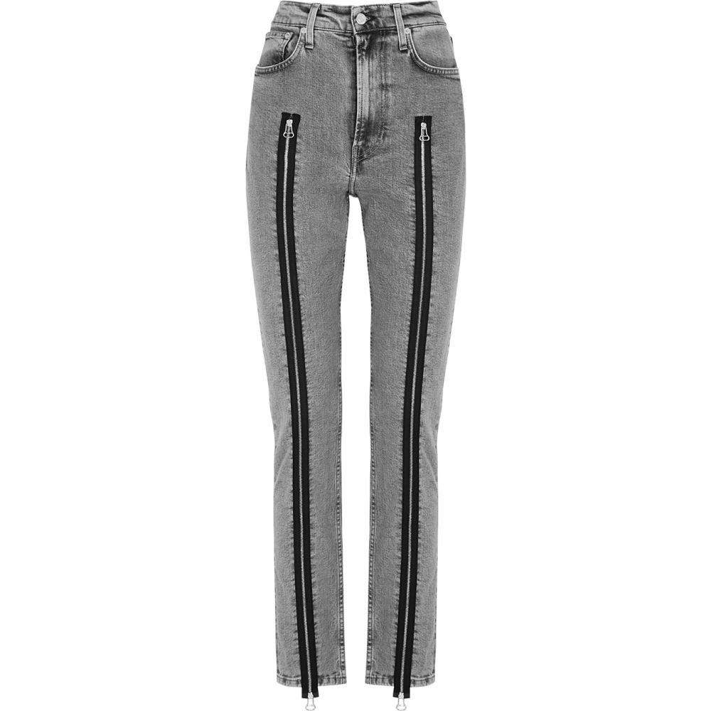 ヘルムート ラング Helmut Lang レディース ジーンズ・デニム ボトムス・パンツ【Grey Zip-Embellished Skinny Jeans】Grey