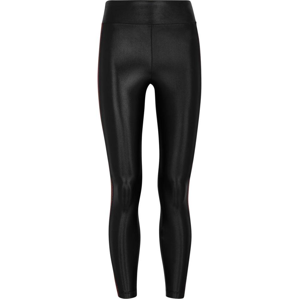 コラール Koral Activewear レディース スパッツ・レギンス インナー・下着【Serendipity Infinity Satin-Jersey Leggings】Black