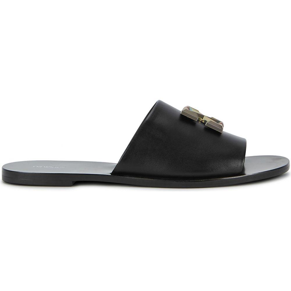 オフホワイト Off-White レディース サンダル・ミュール シューズ・靴【Arrows Black Leather Sliders】Black