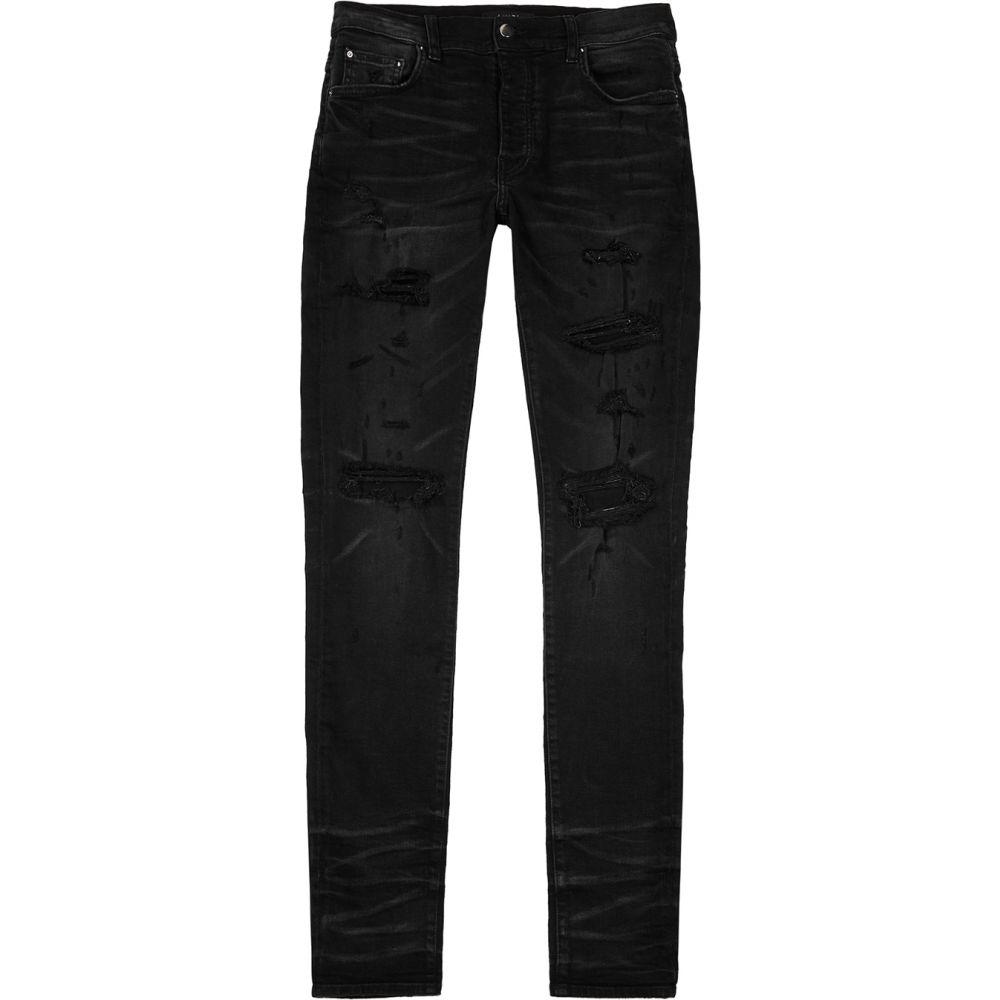 アミリ Amiri メンズ ジーンズ・デニム ボトムス・パンツ【Thrasher Black Distressed Slim-Leg Jeans】Black