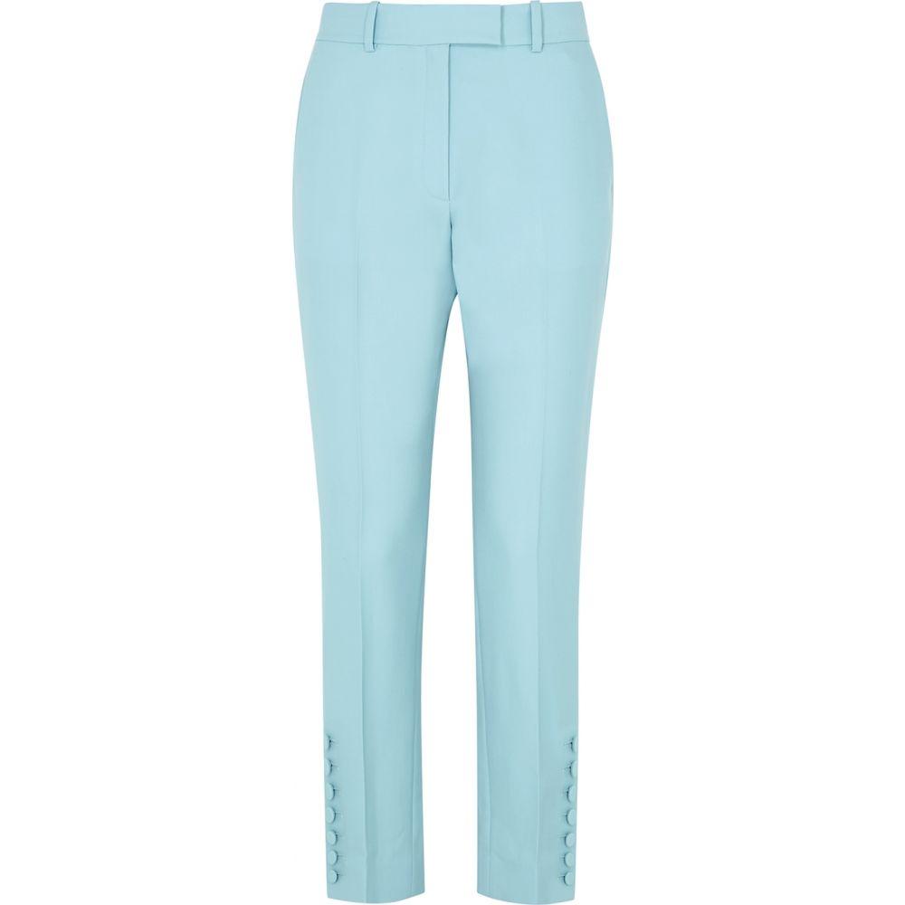 ラシル RACIL レディース スキニー・スリム ボトムス・パンツ【Victor Blue Slim-Leg Wool Trousers】Blue