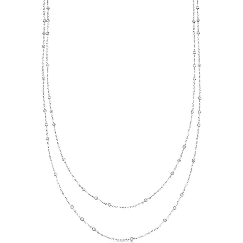 ミッソーマ Missoma レディース ネックレス ジュエリー・アクセサリー【Double Chain Sterling Silver Necklace】Silver
