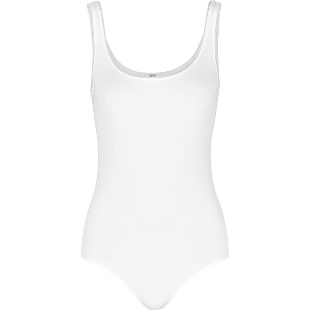 ウォルフォード Wolford レディース ボディースーツ インナー・下着【Jamaika White Cotton-Blend Bodysuit】White