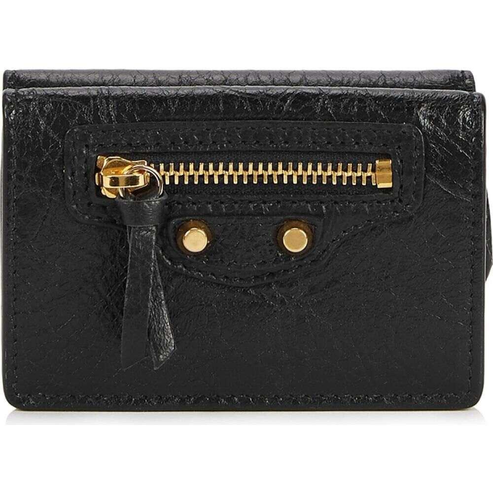 バレンシアガ Balenciaga レディース 財布 【Classic City Mini Black Leather Wallet】Black