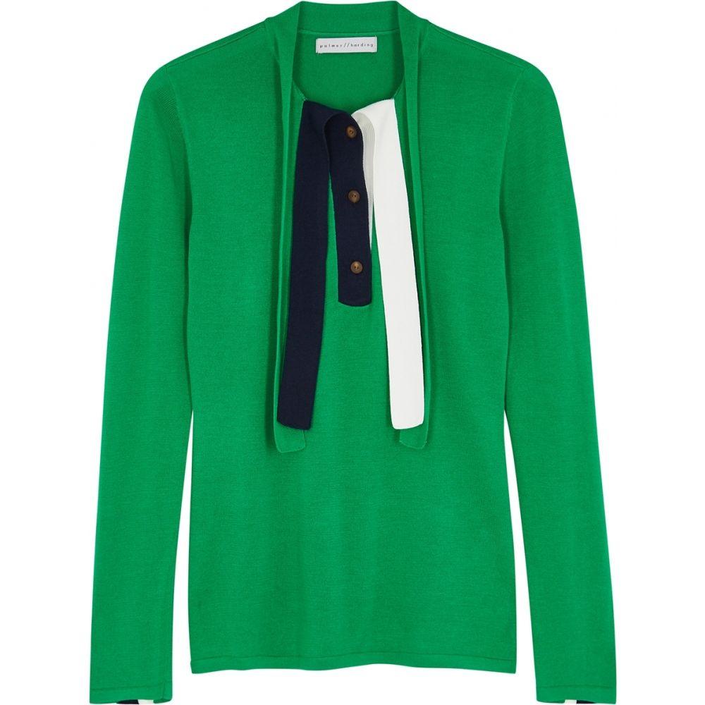 パルマーハーディング palmer//harding レディース ニット・セーター トップス【Revan Colour-Blocked Stretch-Knit Top】Green