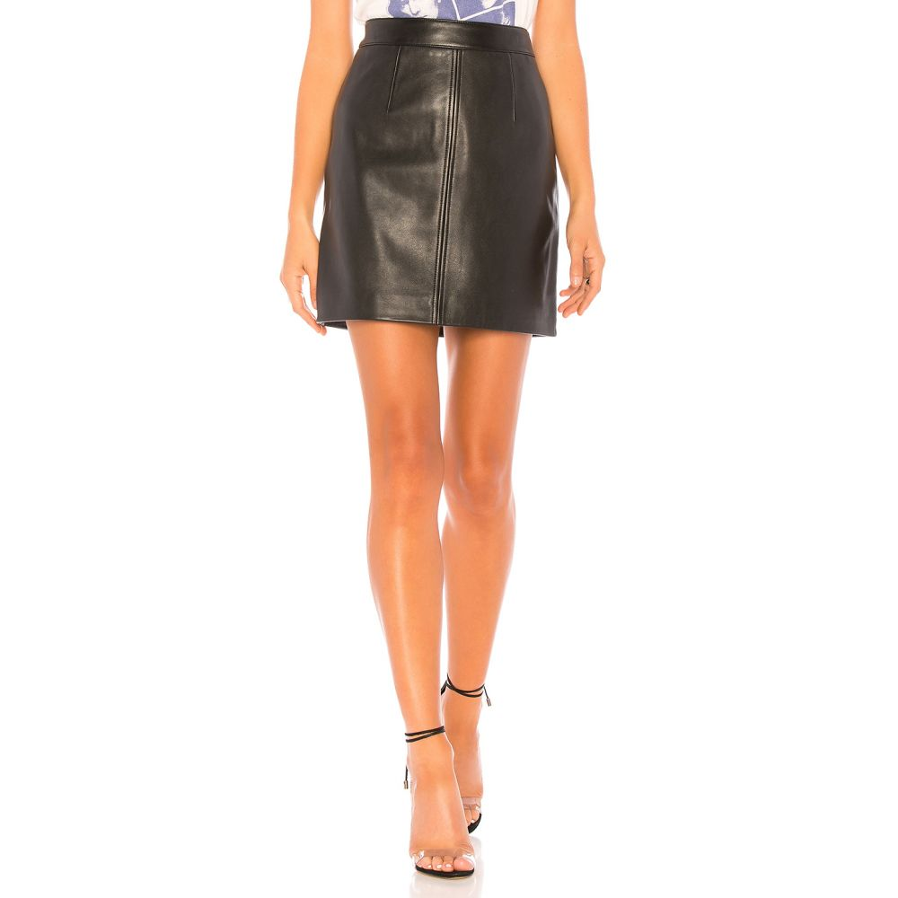 ノーバディーデニム Nobody Denim レディース スカート【Cleanline Leather Skirt】Black Leather