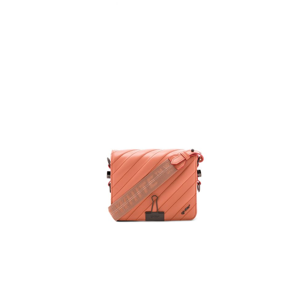 8b6795c644d2 オフ-ホワイト OFF-WHITE レディース バッグ【Diagonal Quilted Flap Bag】Salmon