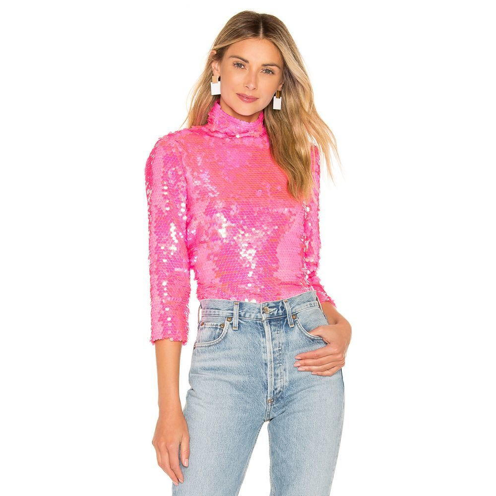 ミリー MILLY レディース トップス【Sequin Turtleneck】Neon Pink