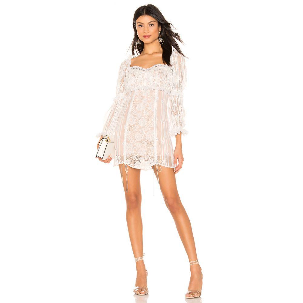 フォーラブアンドレモン For Love & Lemons レディース ワンピース・ドレス ワンピース【Monroe Mini Dress】White