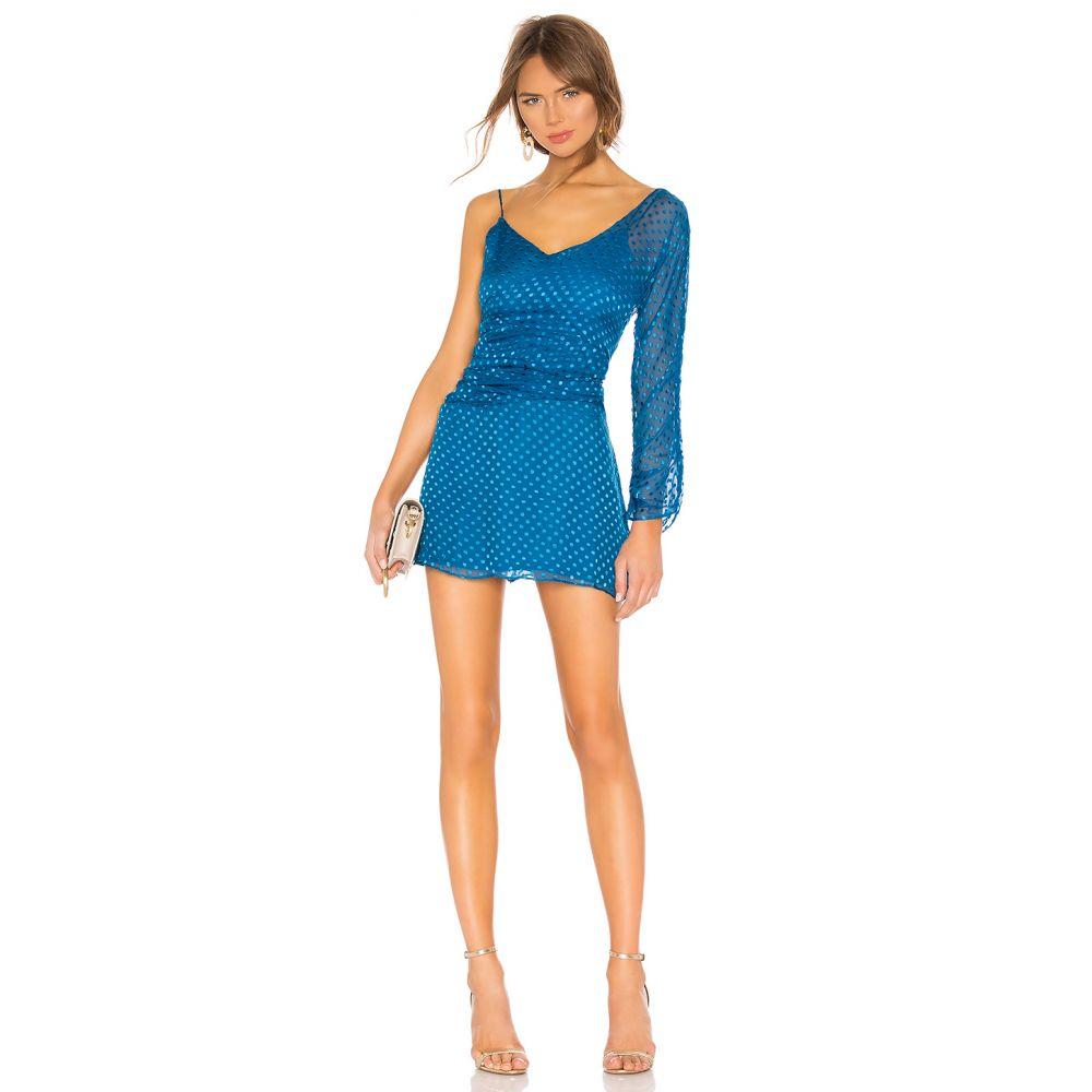 ハウスオブハーロウ1960 House of Harlow 1960 レディース ワンピース・ドレス ワンピース【x REVOVLE Alysa Silk Dress】Deep Teal