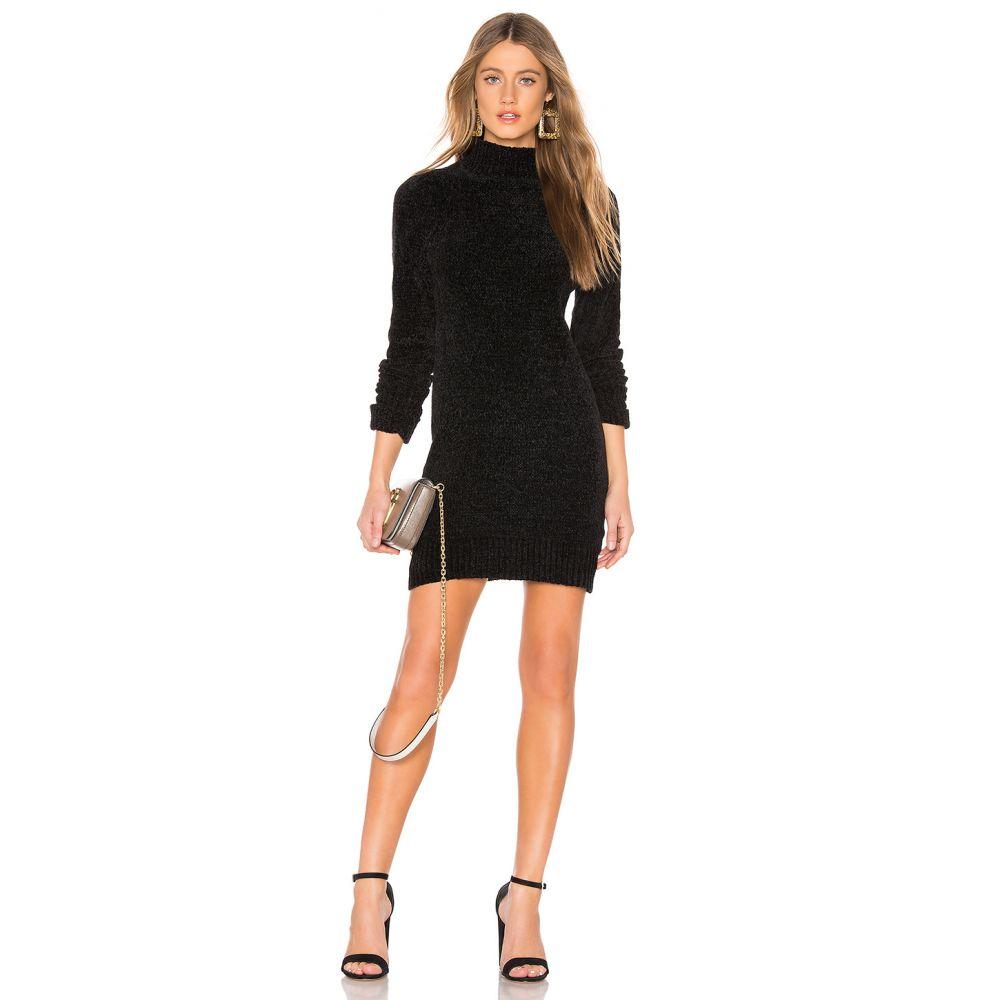 ラヴァーズフレンズ Lovers + Friends レディース ワンピース・ドレス ワンピース【Rowan Chenille Sweater Dress】Black