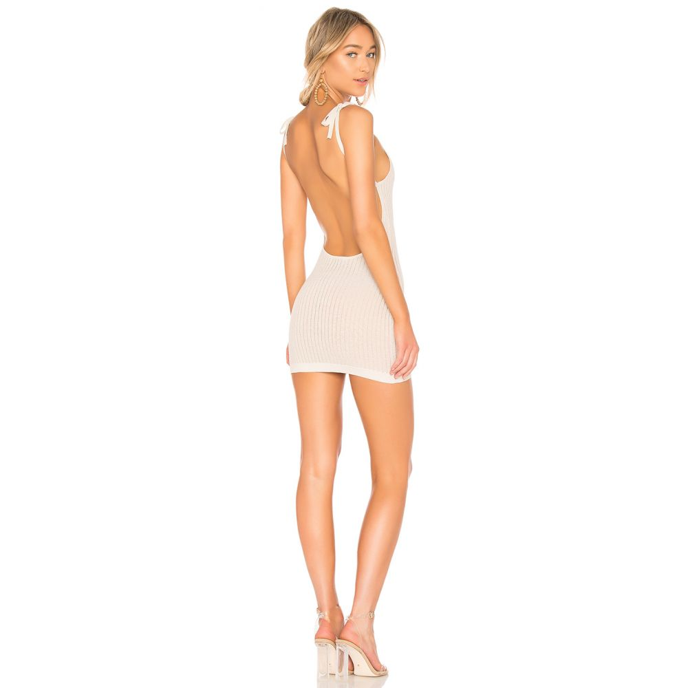 エヌビーディー NBD レディース ワンピース・ドレス ワンピース【Slinky Knit Dress】Ivory & Gold