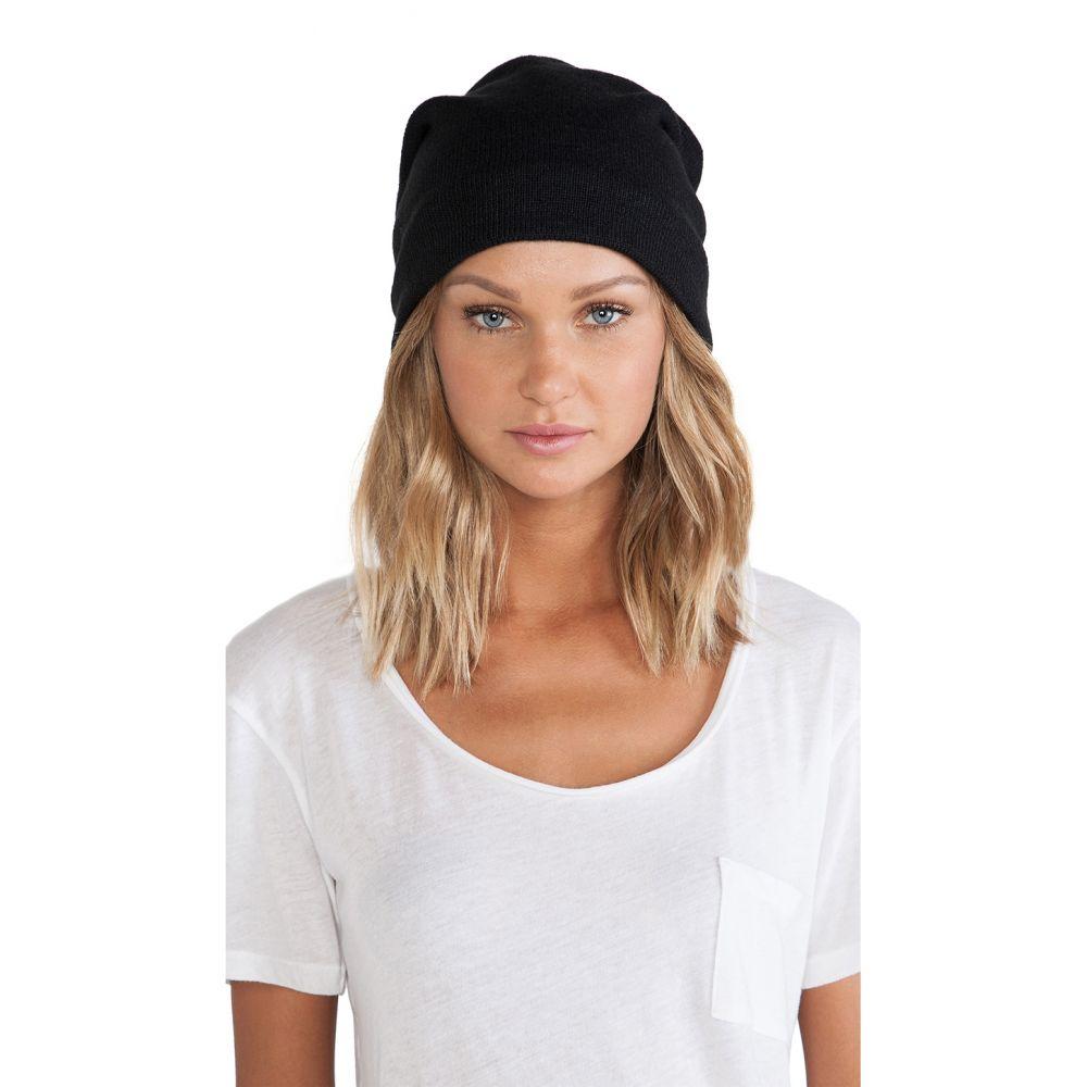 プラッシュ Plush レディース 帽子【Fleece Lined Barca Slouchy Hat】Black