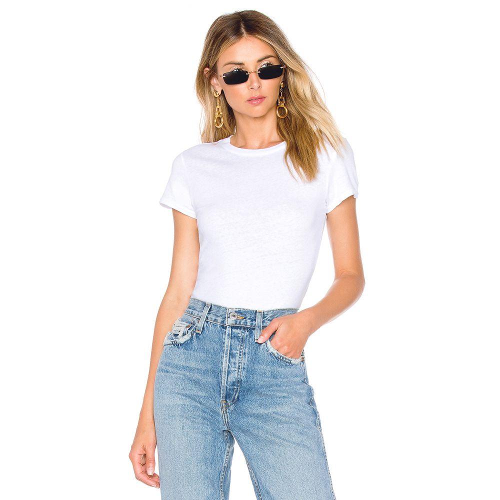 リダン RE/DONE レディース インナー・下着 ボディースーツ【1960's Slim Tee Bodysuit】Optic White