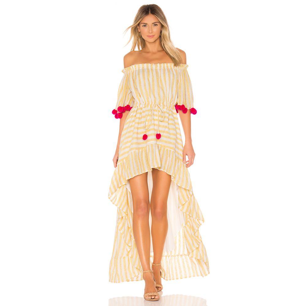 サンドレス Sundress レディース ワンピース・ドレス ワンピース【Alena Dress】Portofino Yellow & Pink