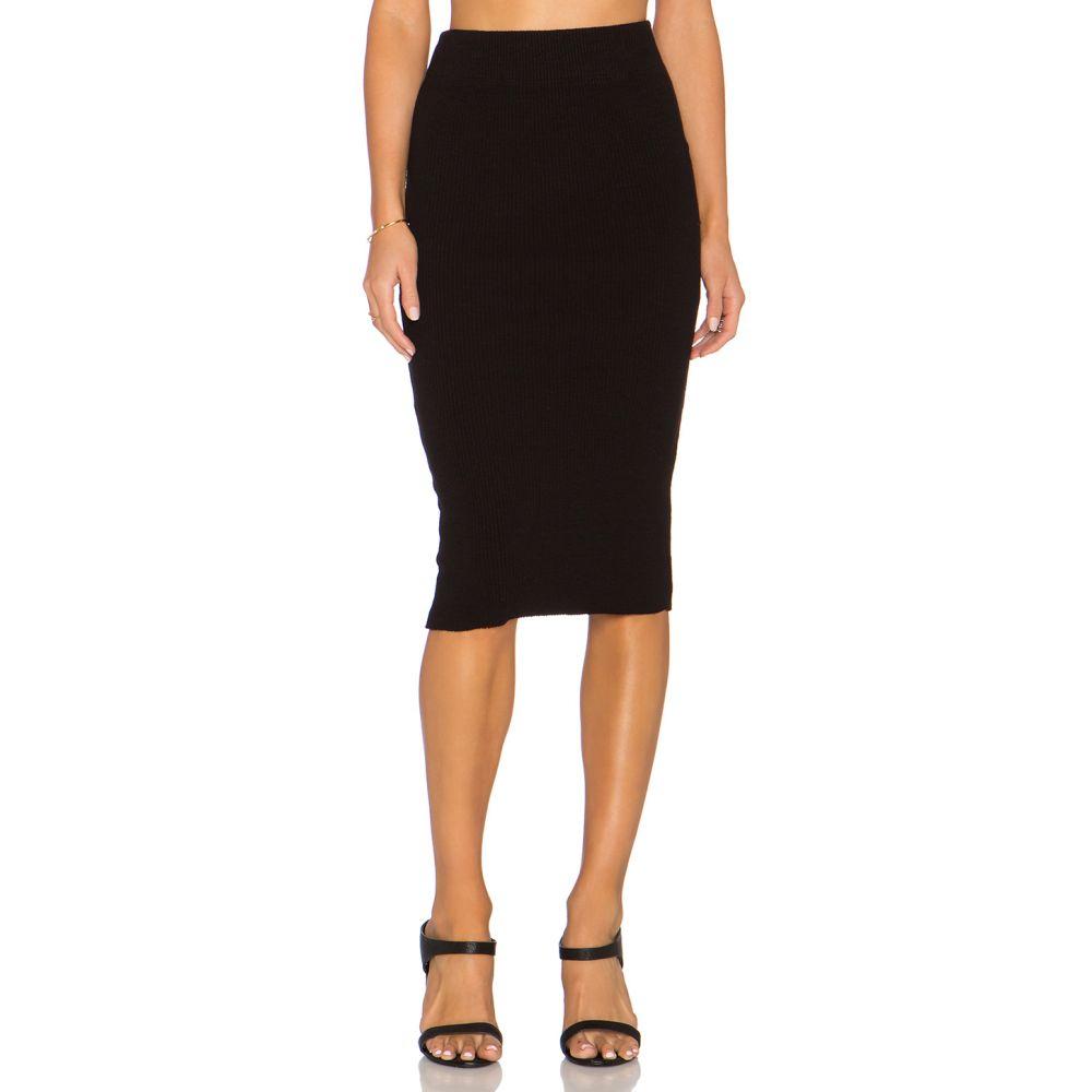 ジェームス パース James Perse レディース スカート【Heavy Rib Skinny Skirt】Black