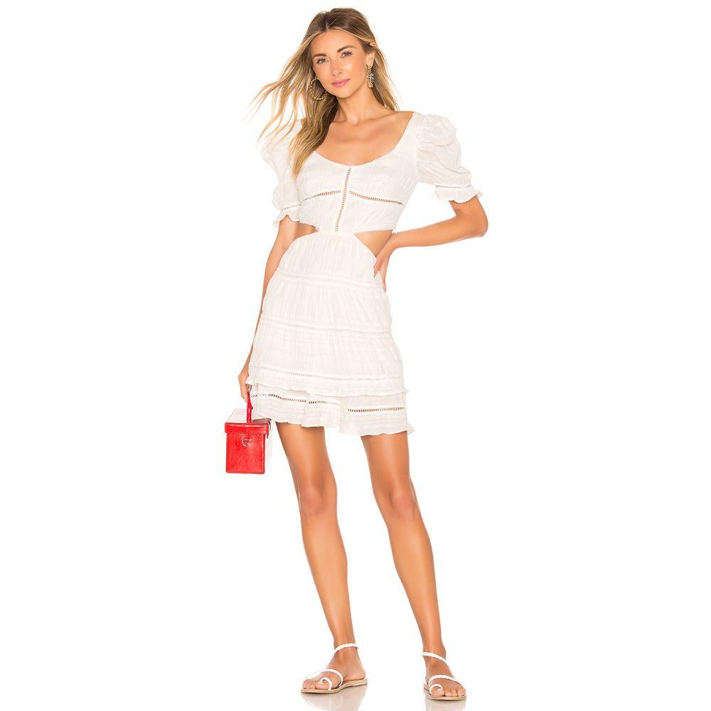 ジョナサン シンカイ JONATHAN SIMKHAI レディース ワンピース・ドレス ワンピース【Lace Combo Cut Out Mini Dress】White