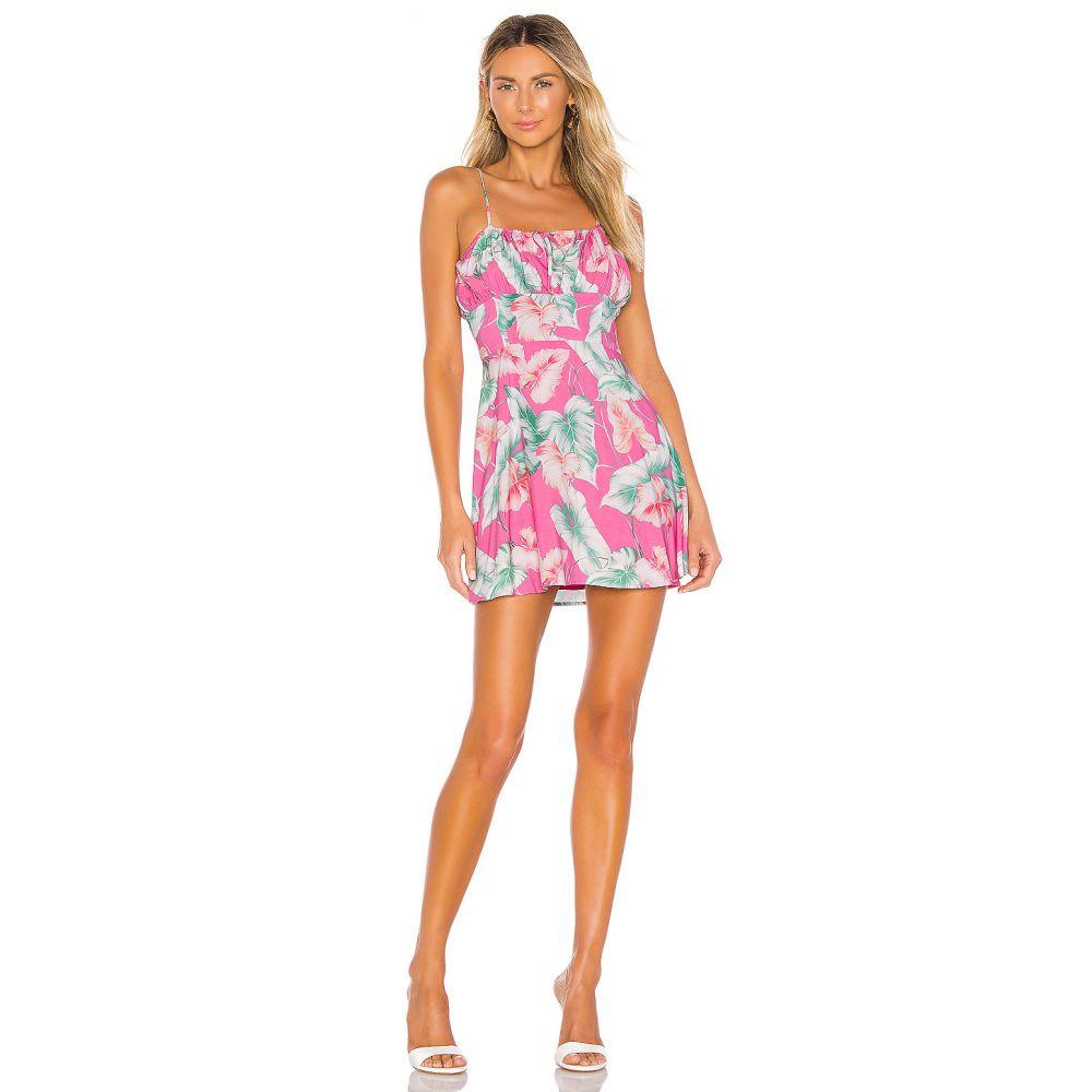 プライバシー プリーズ Privacy Please レディース ワンピース・ドレス ワンピース【Julien Mini Dress】Pink Tropical Floral