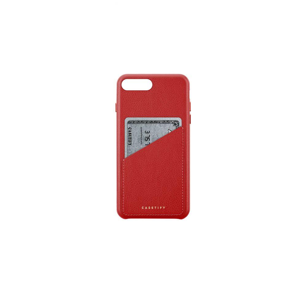 ケースティファイ Casetify レディース iPhone (8 Plus)ケース【Leather Card iPhone 6/7/8 Plus Case】Cherry