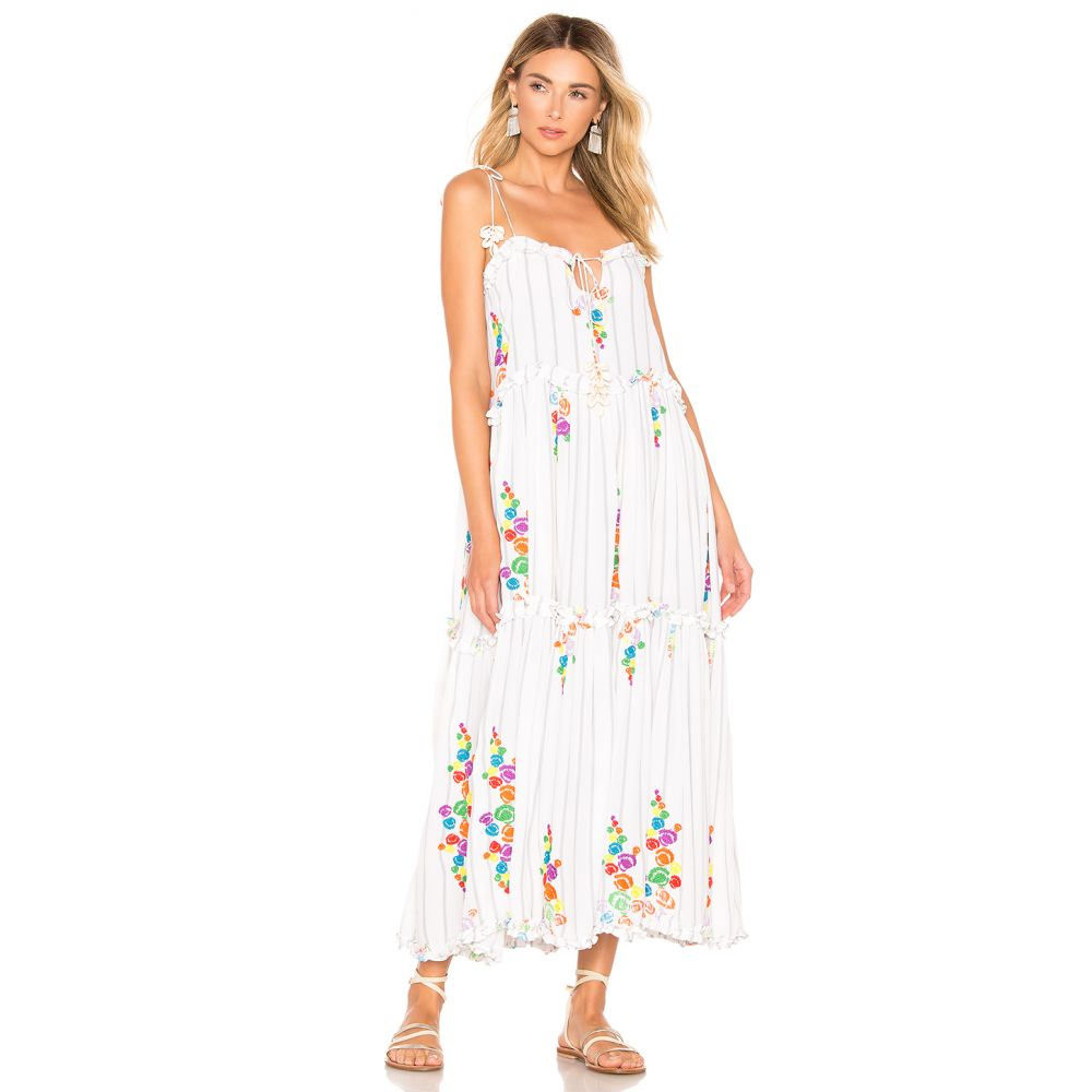 オールシングスモチ All Things Mochi レディース ワンピース・ドレス ワンピース【Mady Dress】White Grey & Stripes