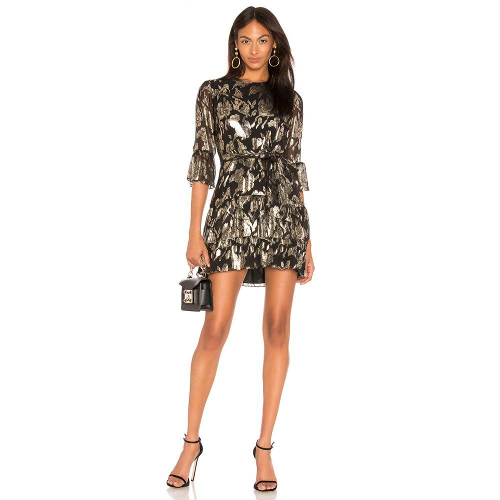 メスティーソ ニューヨーク Mestiza New York レディース ワンピース・ドレス ワンピース【Lucia Ruffled Mini Dress】Gold & Black