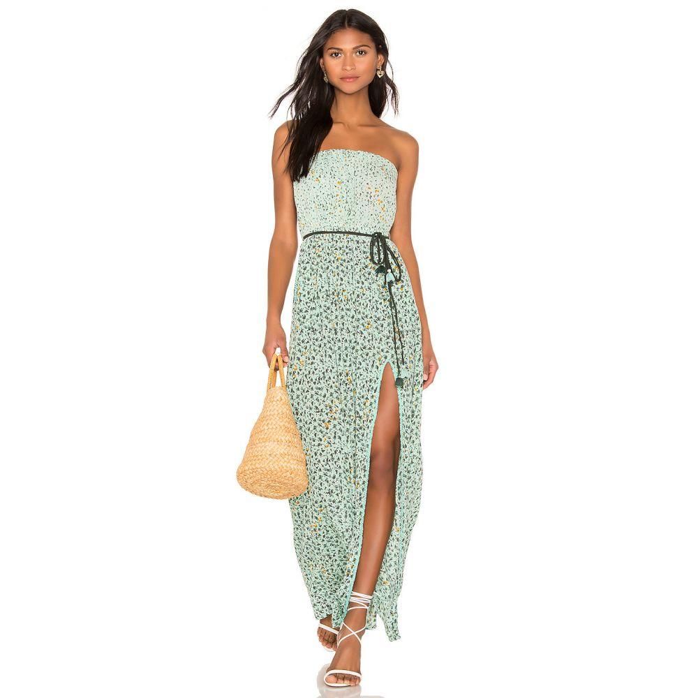 プーペット セント バース Poupette St Barth レディース ワンピース・ドレス ワンピース【Mara Strapless Dress】Green Mozaic